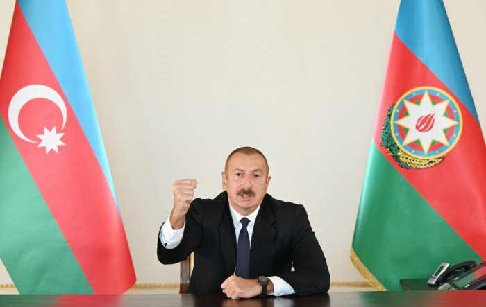 President Aliyev: Azerbaijani Army is currently firing on and dealing blows to enemy