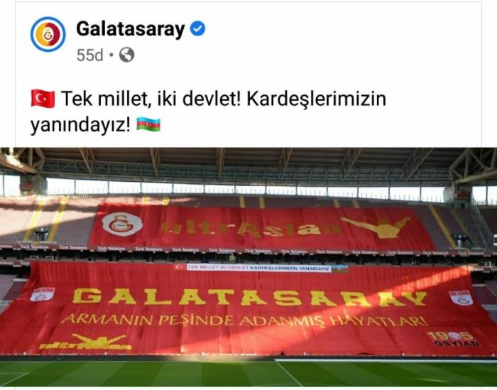 """""""Qalatasaray""""dan Azərbaycana dəstək"""