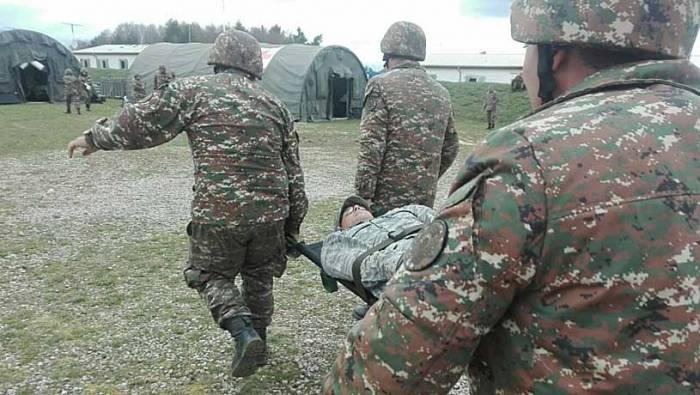 Commander of Armenian army regiment severely wounded