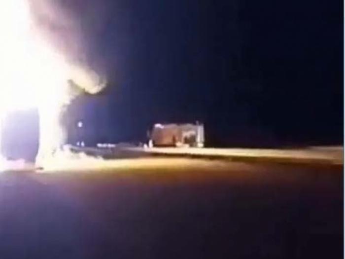 Des Azerbaïdjanais en Iran ont incendié des camions transportant des armes vers l
