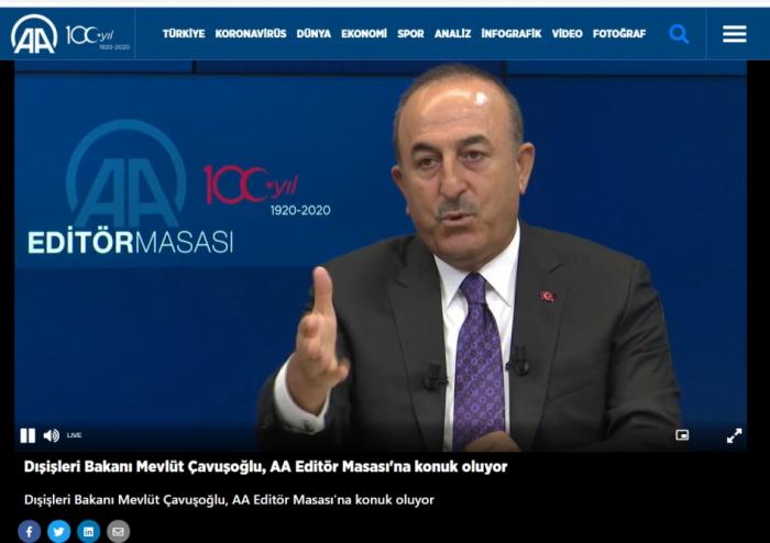 """""""Azərbaycan torpaqlarını təkbaşına azad etməyə qadirdir"""" -   Çavuşoğlu"""