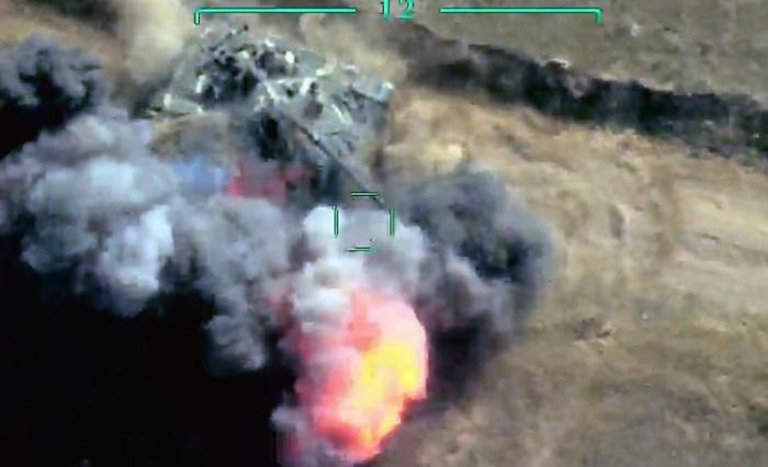 Düşmənin daha iki tankı məhv edildi -  VİDEO