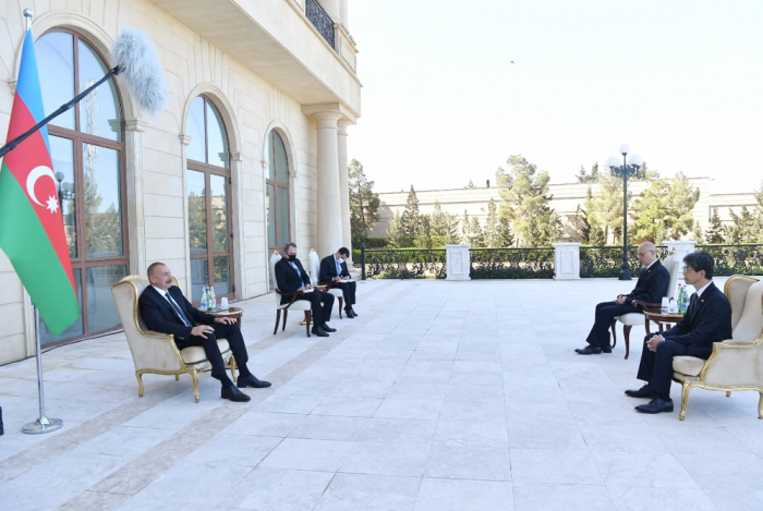President: Two projects being implemented with support of Japanese institutions are great contribution to Azerbaijan's energy security
