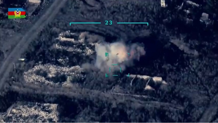 Azerbaijan destroys Armenian military equipment –  VIDEO