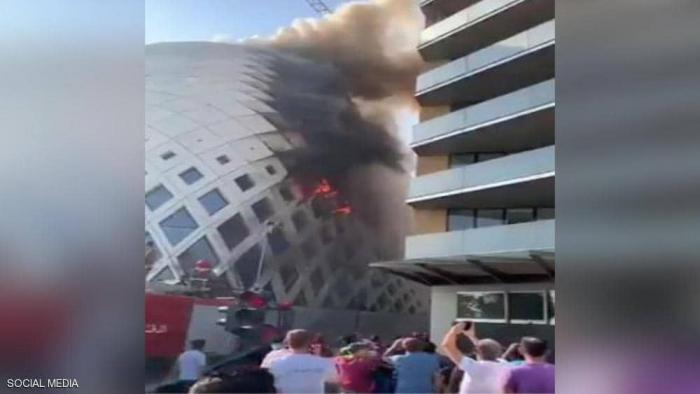 اندلع حريق جديد في المنطقة التجارية في بيروت