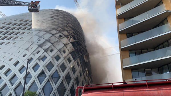 Fire breaks out in central Beirut commercial district