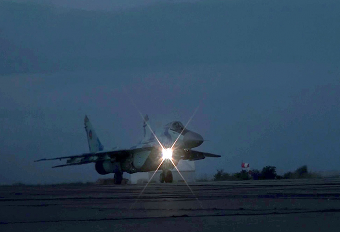 Hərbi Hava Qüvvələri gecə təlimləri keçirib -
