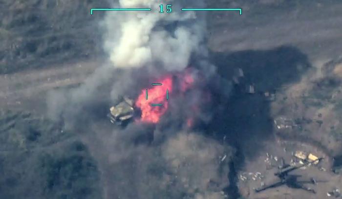 Azerbaijani army destroys several more military vehicles of Armenia – VIDEO