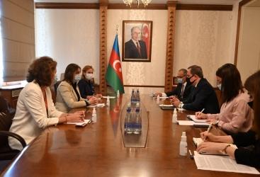 Canciller de Azerbaiyán se reúne con la jefa de la oficina del CICR en Azerbaiyán
