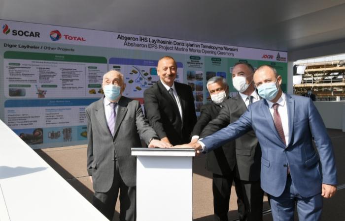 Presidente: Nueva fase empieza para el campo de condensados de gas de Absheron