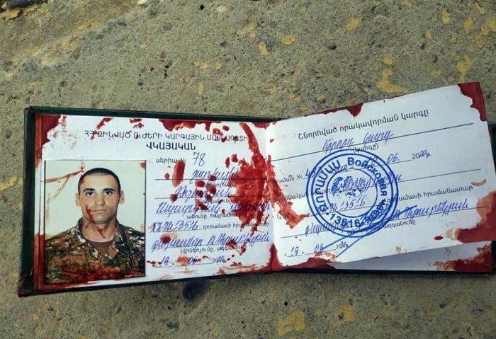 Ermənistan ordusunun hərbi hissə komandiri məhv edildi -  FOTOLAR