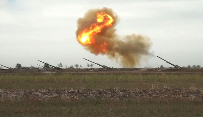 Feindliche Artillerieeinheiten wurden in Richtung Aghdara zerstört