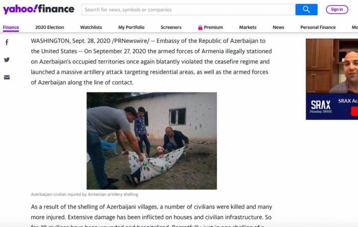 الإعلام الأمريكي:  أرمينيا تقتل مدنيين