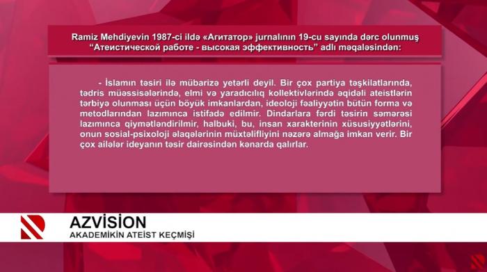 AzVision-13 I    Köhnə ateistin metamarfozu -    VİDEO