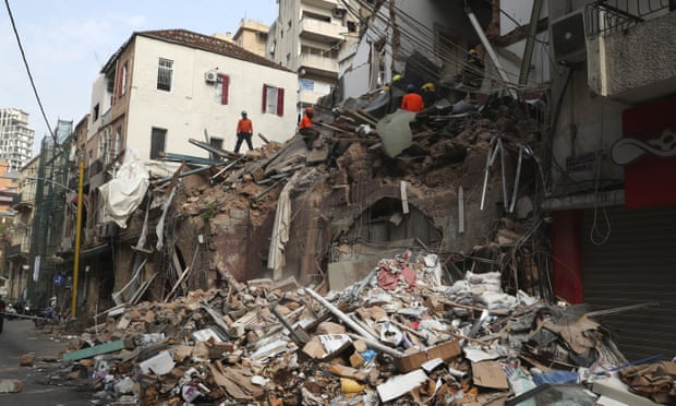 Sign of life found underneath Beirut rubble weeks after blast