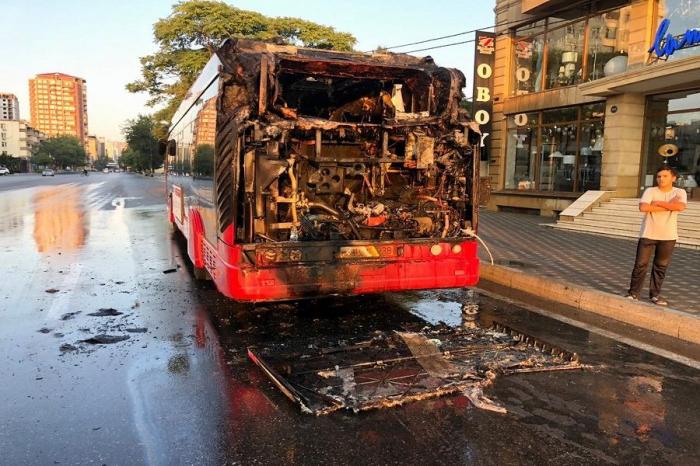 FHN yanan avtobusla bağlı məlumat yaydı
