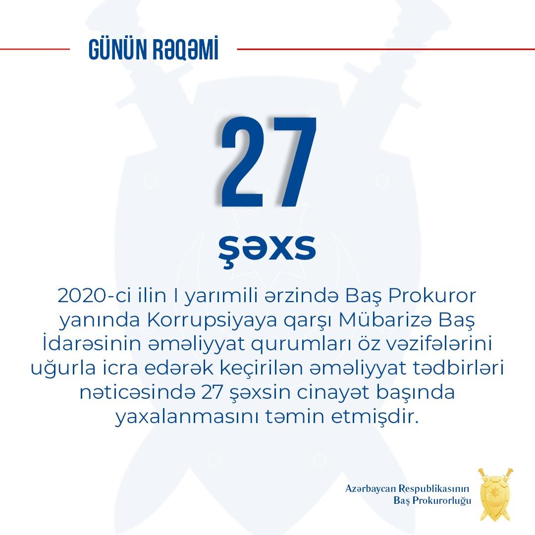 Bu il 27 şəxs cinayət başında yaxalanıb -  Korrupsiya faktları