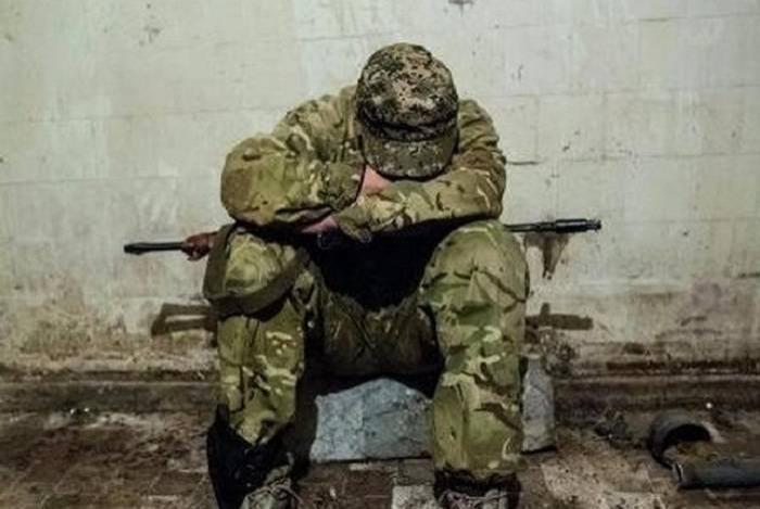 Schlachtflagge und Dokumente des feindlichen Bataillons beschlagnahmt