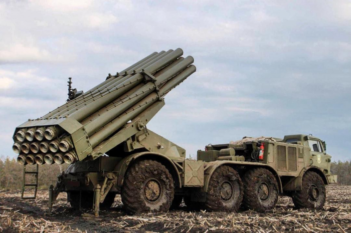 Azerbaijan says Armenian army's Uragan multiple launch rocket system destroyed