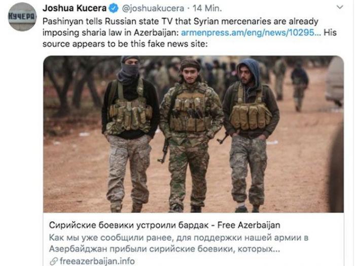 Amerikalı jurnalist Paşinyanın yalanını ifşa etdi