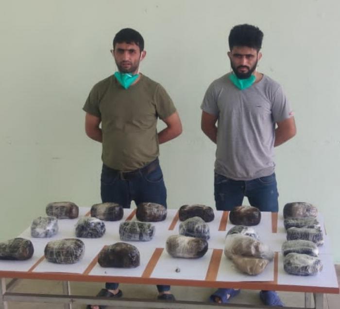 Sərhəd pozucuları 12 kiloqram heroinlə tutuldu -  FOTO