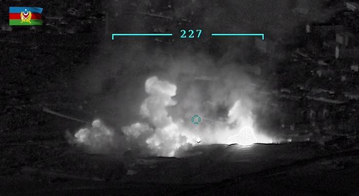 Azerbaijan destroys Armenian army's ammo depot - VIDEO