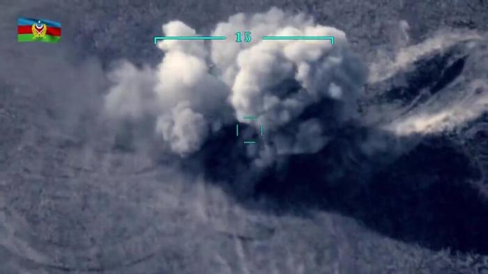 تدمير مواقع الجيش الأرمني - فيديو