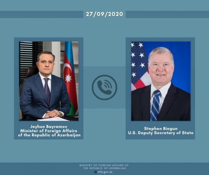 Azerbaijani FM holds phone talk with US Deputy Secretary of State