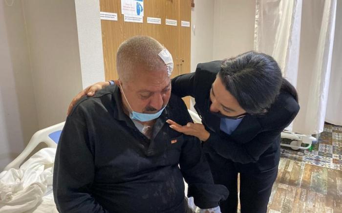 Ombudsman visited injured civilians in Ganja