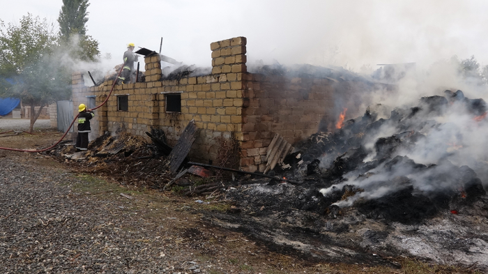 Missile and artillery strikes by the Armenian armed forces cause fires in civilian facilities