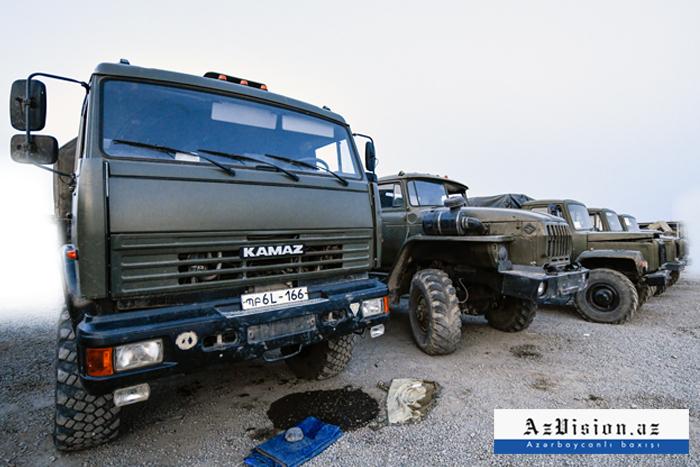 Düşməndən qalan hərbi texnikalar -  FOTOREPORTAJ