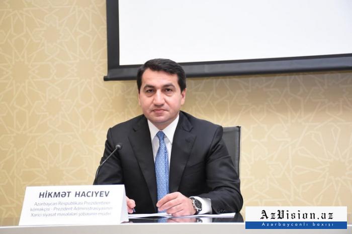 """حكمت حاجييف:   """"اطلقت اكثر من 100 قذيفة مدفعية على اغجابادي وتارتار واغدم"""""""