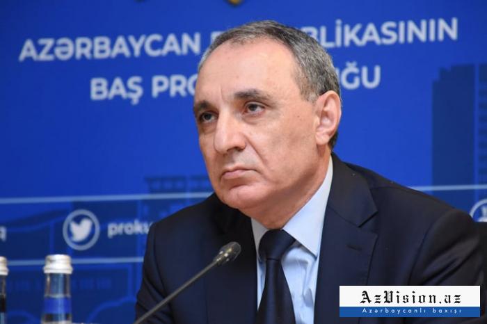 """""""Hərbi cinayətlərlə bağlı 5 cinayət işi başlanıb"""" -  Baş Prokuror"""