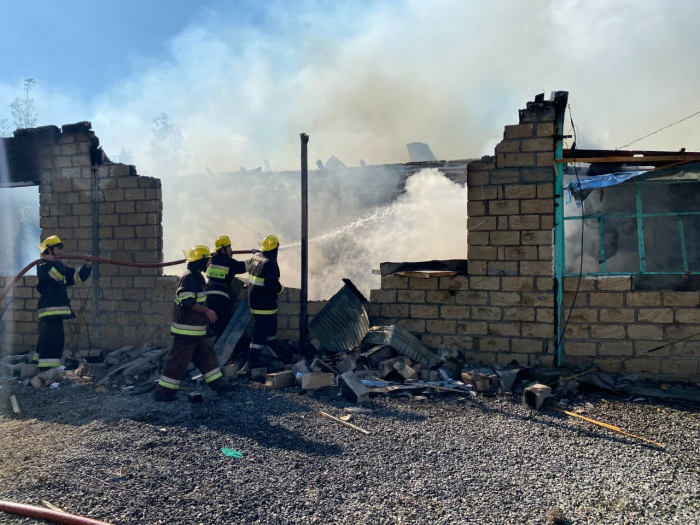 Armenian Army causes fires in Aghdam