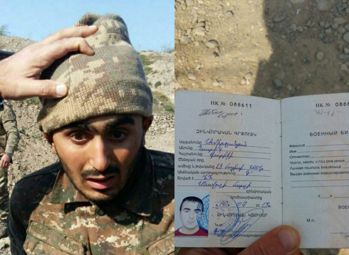 Armenian serviceman captured during counter-offensive operations of Azerbaijan Army -   PHOTO