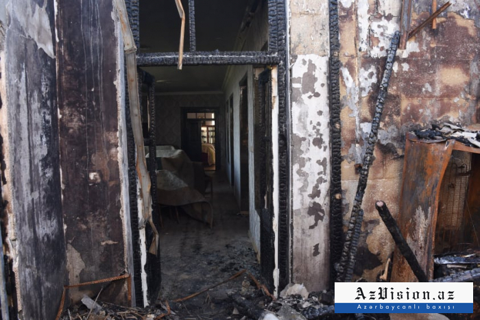 Armenian shelling caused fire in a house in Naftalan -  PHOTOS