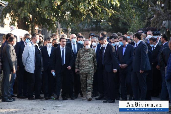 Xarici diplomatlar Gəncədədir  -  FOTOLAR