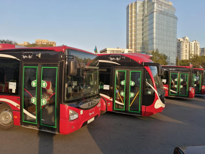 BNA ehtiyat avtobusları xəttə buraxır
