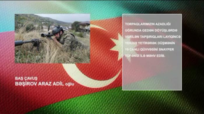 Snayperlə 19 erməni hərbçisini məhv etdi -    VİDEO