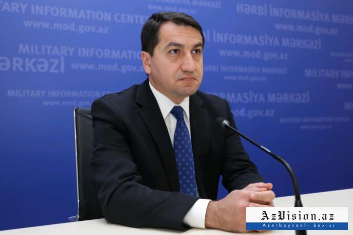"""""""أرمينيا تواصل جرائم الحرب"""" -   حكمت حجييف"""
