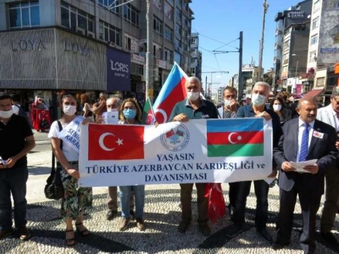 """İstanbulda dəstək aksiyası:  """"Səninləyik Azərbaycan"""""""