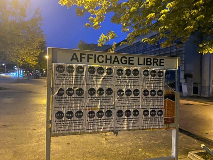 Nagorno-Karabakh belongs to Azerbaijan!   - Posters on streets of France