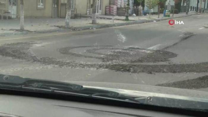 Armenians fire on journalists in Terter -  VIDEO