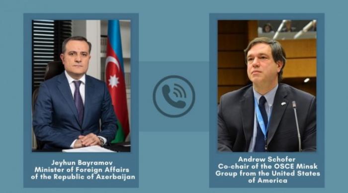 Azerbaijani FM had phone conversation with OSCE Minsk Group co-chair of USA