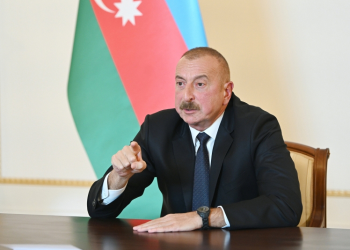 """Ilham Aliyev: """"He has now run away, went into hiding like a mouse"""""""