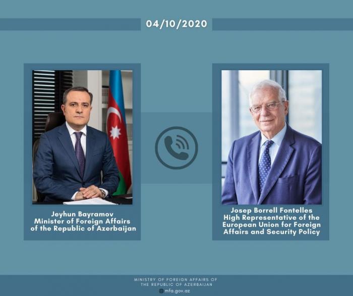 Azerbaijani FM holds phone talk with EU's Borrell