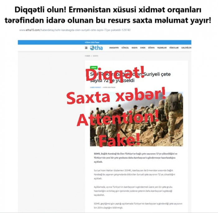 Armenia spreads fake news against Azerbaijan like a virus -   PHOTOS