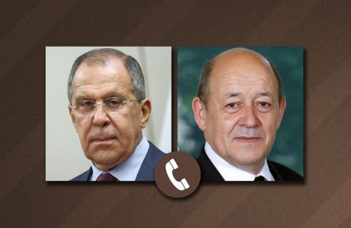 Lavrov discusses Nagorno-Karabakh  conflict with his French counterpart