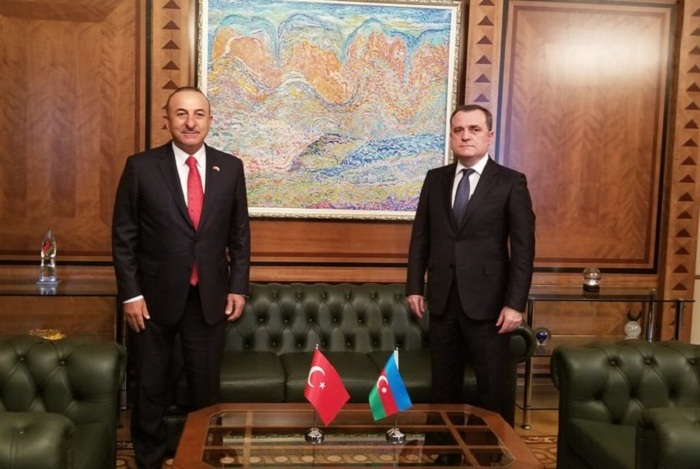 Meeting between Azerbaijani, Turkish FMs kicks off