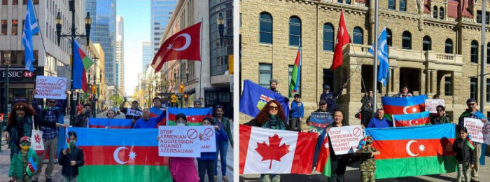 Kanadada Azərbaycana dəstək yürüşü keçirildi
